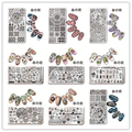 1 Unid Rectángulo Nail Art Stamping Plantilla Animal Chica Shell Del Mar Starfish Diseño Placa de la Imagen Del Arte Del Clavo de Manicura Harunouta L012-031