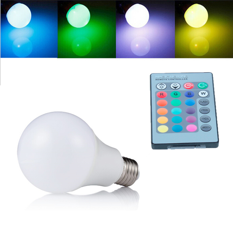 RGB LED Bulb 2017 New arrival LED RGB bulb E27 10W 15W AC 85-265V rgb led Lamp with Remote Control multiple colour led rgb lamp jr led e27 10w 500lm led rgb light bulb w remote control white silver ac 85 265v