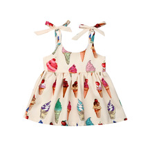 Cute Baby Girls Flower Princess Sleeveless Dress Sundress for Newborn Baby Girl Infant Children Clothes Kid Clothing Summer недорого