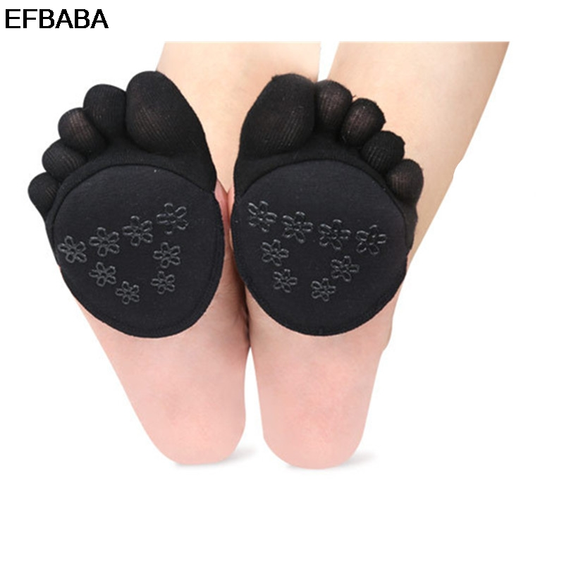 EFBABA Sweat Breathable Shoe Insole Forefoot Pad Silicone Gel Cushions Non-slip High Heel Insole Feet Separated Shoe Accessoire efbaba insoles for heels non slip adhesive shoe insole super strong high heel shoes soles rubber shoe pad accessories wholesale