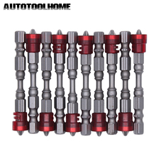 "10PC 1/4"" Magnetic PH2 Screwdriver Bits Set Drywall Precision Screwdriver Bit Phillips Screw Driver Bit 65mm Hex Shank Tools"
