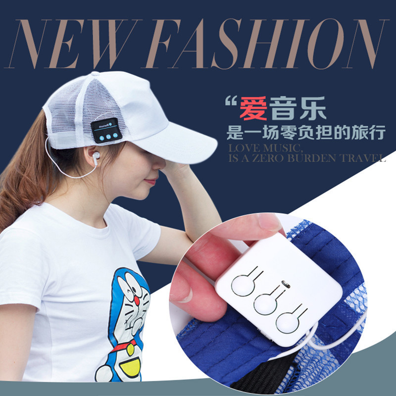 Wireless Bluetooth Headphone Music Sport Cap Smart Baseball Hat with Hands-free Mic Earphone Sun Cap for iphone Samsung kz zs5 bluetooth headphone wireless sport noise canceling earphone amplifer with mic heavy bass high quality for boy for samsung