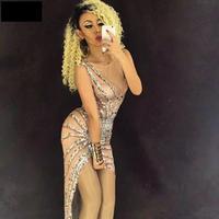 Classic Diamond Skirt Nightclub Singer Full Of Shining Rhinestones Clothing Party Birthday Celebrate Women Sexy Outift