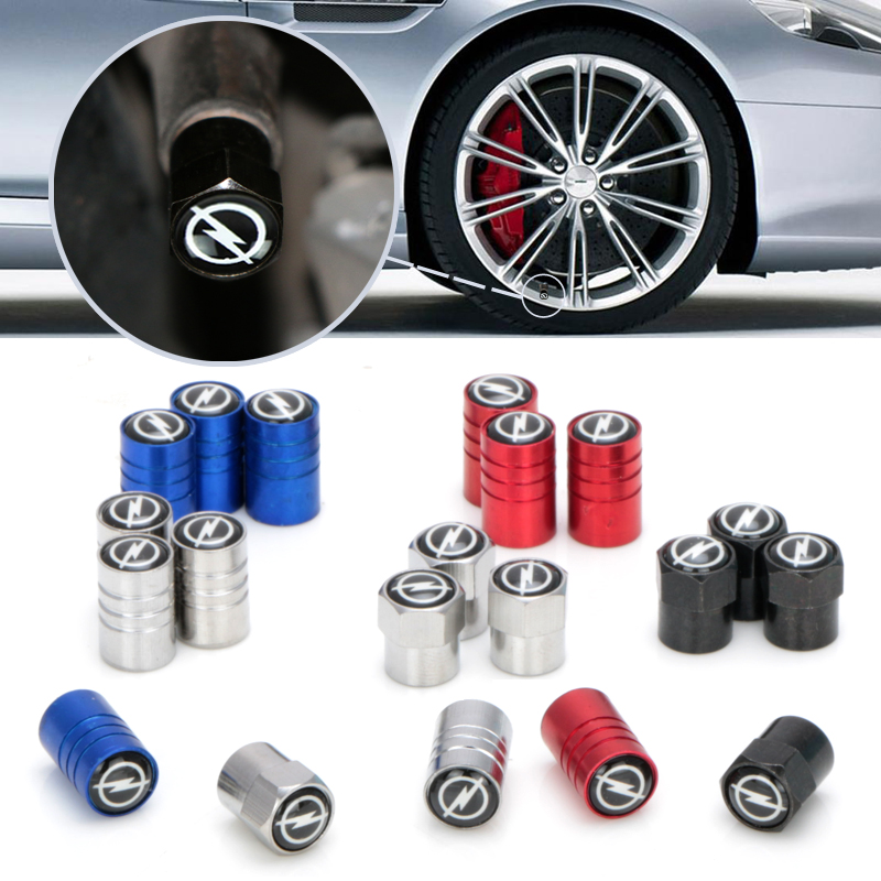 4pcs Carbon Black New Style Car Badge Wheel Tire Valve Cap Tyre Dust Cap For OPEL Corsa Insignia Astra Antara Meriva Accessories