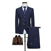Suit Slim Men 3 Piece Suit Wedding Groom Business Casual Suits Best Man Working