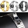 Top substituição banda alça de pulso de luxo em aço inoxidável 316l pulseira com fivela de fecho borboleta para apple watch 42mm 38mm
