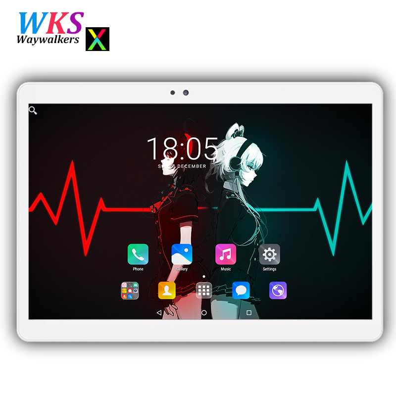 2018 Newest 10 inch 2.5D screen tablet pc Android 7.0 octa core RAM 4GB ROM 32/64GB Dual SIM Bluetooth GPS Smart tablets pc 10.1 zgpax s5 watch smart phone dual core 1 54 inch capacitive touch screen android 4 0 512mb ram 4g rom 2mp camera with gps silver black