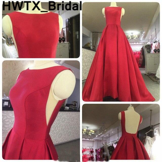 En Venta Vestidos De Dama Honor Rojo Champán Sin Espalda