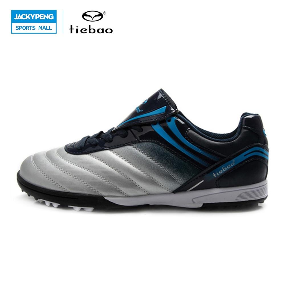 ФОТО TIEBAO Professional Indoor Soccer Shoes Football Botas Futbol patos De Futbol Sport ShoesTobilleras Child Kids Football Shoes
