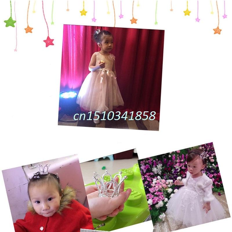 Women Lady Girl Mini Rhinestone Crown Bridal Tiara Hair Comb Pin Wedding Party////