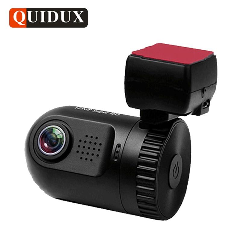 QUIDUX Mini Car DVR Full HD 1296P Ambarella A7 Dash Camera ADAS WDR Night Vision Registrator Video Recorder dashcam GPS logger blueskysea ambarella a12 hd 1440p 1296p car dash camera gps video recording car dvr ldws view angle 170 degree
