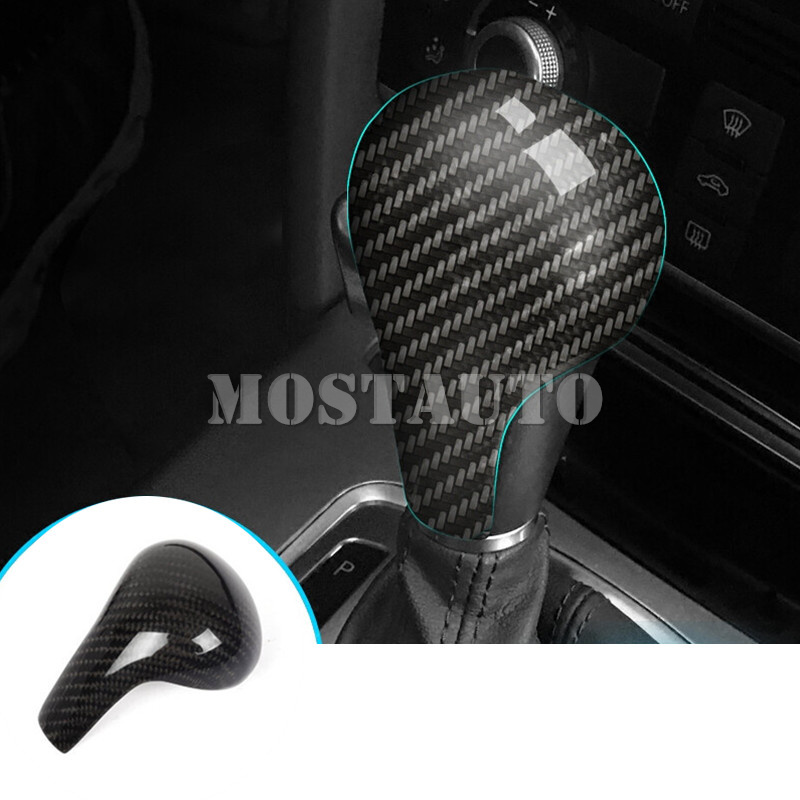 Pour Audi A5 S5 fibre de carbone Console centrale levier de vitesse bouton revêtement d'habillage 2008-2011 1 pièces