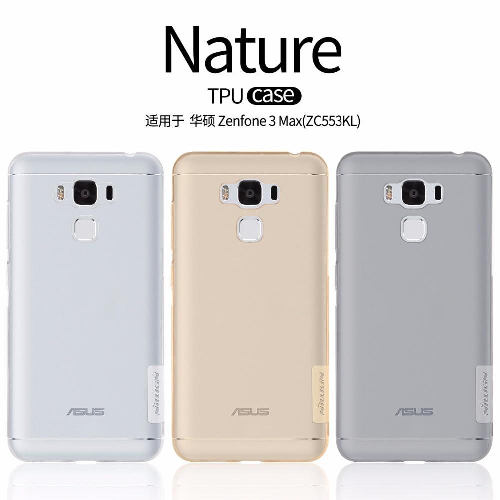 NILLKIN Transparent Nature TPU Soft Case for Asus Zenfone 3 Max ZC553KL Clear TPU Soft Back Cover for Asus Zenfone 3 Max ZC553KL