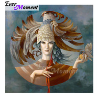 Ever Moment Diamond Painting Handmade Picture Of Rhinestone Woman Mosaic Full Square Drill Diamond Embroidery Decoration ASF1549