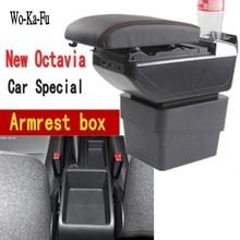 Для Skoda Octavia Новый A7 подлокотник коробка центральный магазин коробка содержание чехол для хранения USB интерфейс украшения аксессуары 2015-2018