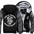 Hot New Sons of Anarchy Cosplay Coat Hoodie Winter Fleece Unisex Thicken Jacket Sweatshirts  Free Shipping