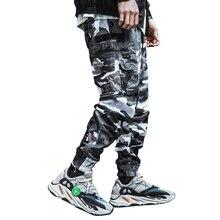 2019 Fashion Streetwear Men Jeans Camouflage Military Pants Loose Fit Multi-Pockets Cargo Pants Men Hip Hop Joggers Pants hombre men s cargo pants pockets stretch cotton casual loose men military pants men trousers men pants camo joggers pantalones hombre