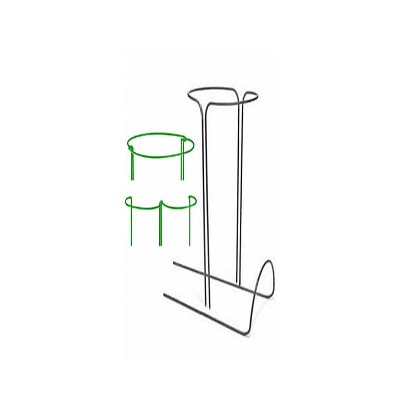 2pcs Half Round Plant Support Ring Garden Tool Solid Steel Rust Semi-Circular Border Wire Hoop Frame