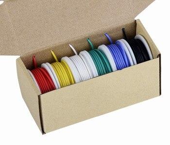 TUOFENG 20 Калибр электроники провода, цветной провод комплект 20 AWG гибкий силиконовый провод (6 различных цветных 7 метров катушки) 600 в