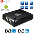 S905 5.1.1 KI Más Inteligente Android TV Box Amlogic Quad Core 1G/8G 2.4G WIFI DVB-S2 DVB-T2 KODI Ccamd Newcamd K1 Plus Set Top Box