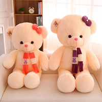 Hot new 60cm Stuffed Scarf teddy bear juguetes Plush Toy Big bear Pillow Doll panda plush doll brinquedos Christmas Gifts