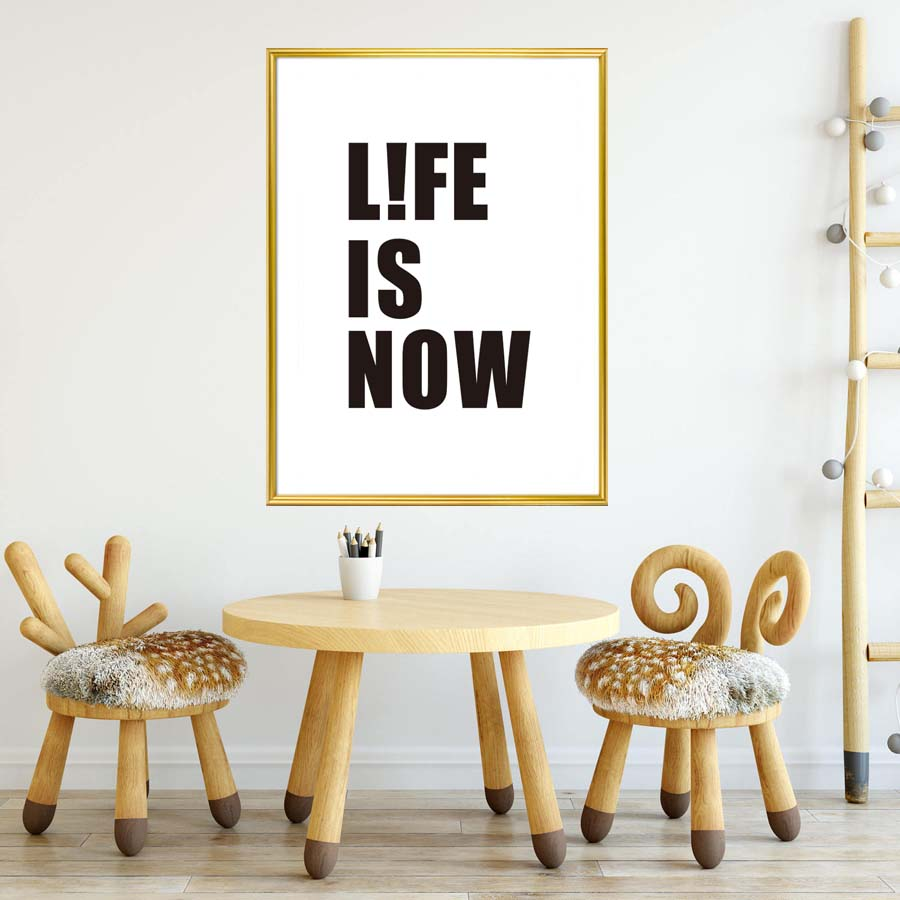 Inspirational Quote Life Is Now Canvas Art Print Painting Poster Wall Pictures For Living Bed Room Home Decor No frame