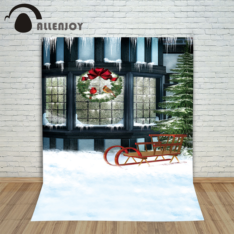 Christmas pictures - background for photos Snow wreath windows winter kids photocall wonderland vinyl backdrops for photography christmas background pictures vinyl tree wreath gift window child photocall fairy tale wonderland camera photo studio backdrop