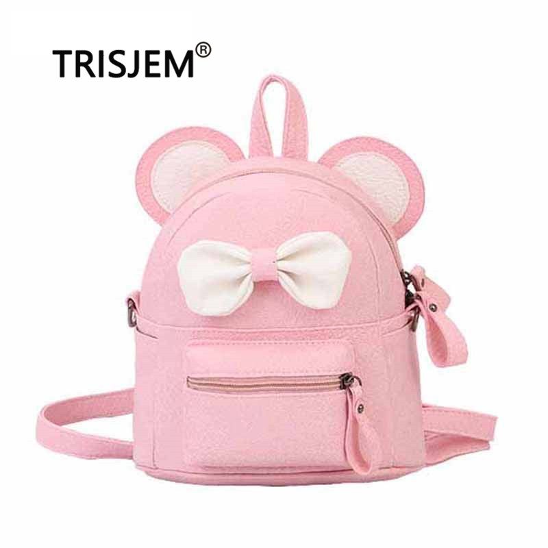KUWT Blue Daisy and Pink Flowers PU Leather Backpack Photo Custom Shoulder Bag School College Book Bag Rucksack Casual Daypacks for Women and Girl