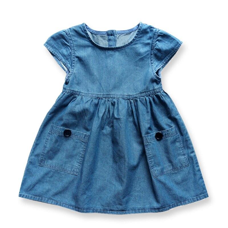 Vestido de algodón para niñas pequeñas Vestidos de niños con - Ropa de ninos