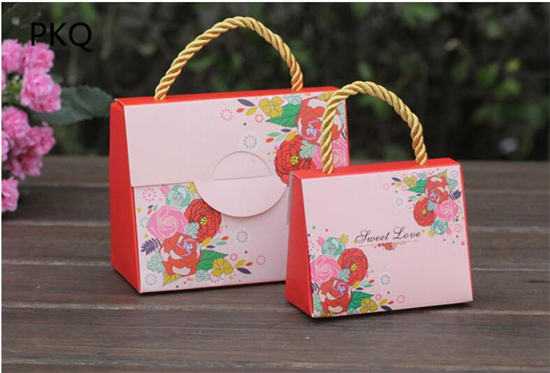 Small Red Wedding Favor Box And Bags Sweet Love Gift Candy