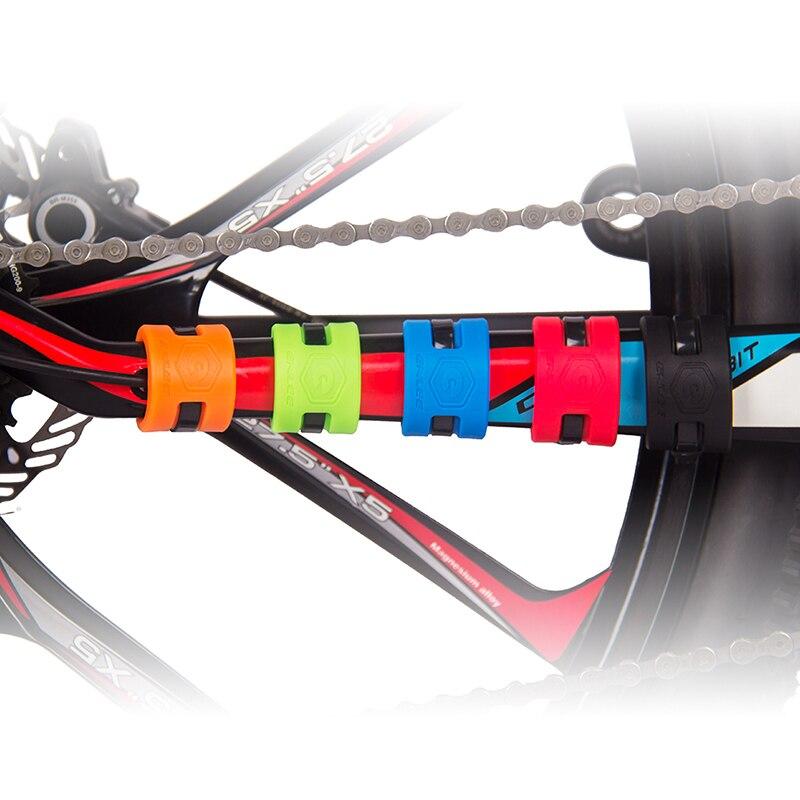 RichBit 5 stücke Mountainbikes Kette Schutzschild Straße Fahrräder Kette Kettenstrebe Schutzhülle Anti-scratch Guard Kit Teile