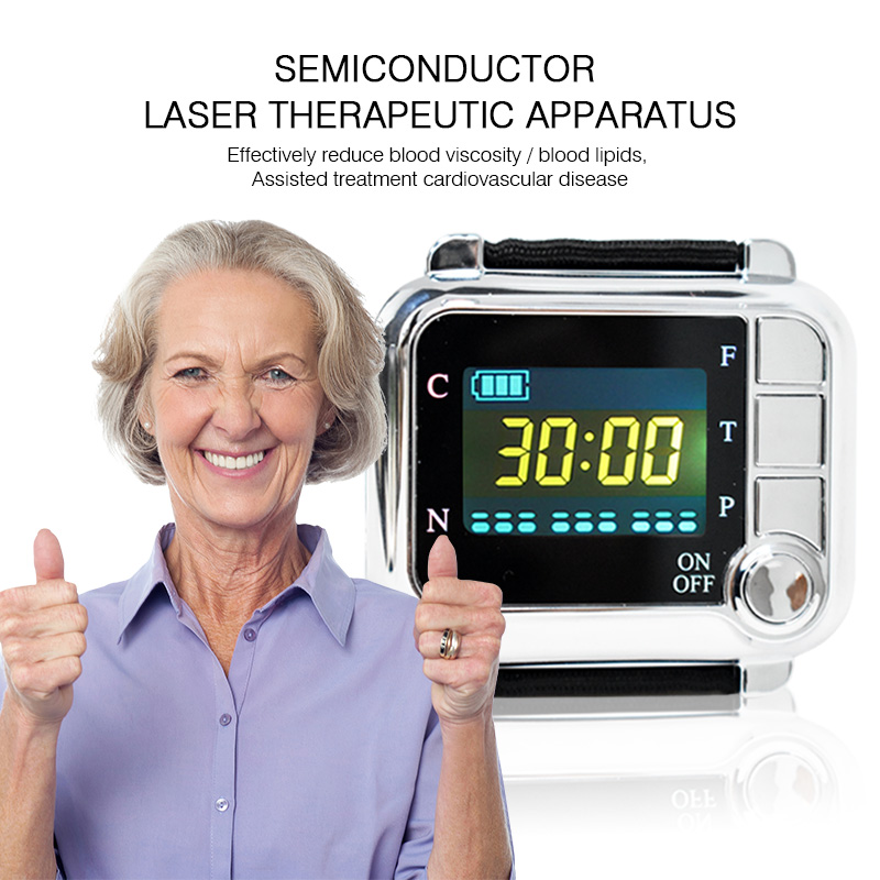 New healthy laser therapy instrument to treat hypertension,diabetes,rhinitis,cholesterol,cerebral thrombosis laser therapy watch laser therapy device to reduce high blood pressure high cholesterol rhinitis cholesterol cerebral thrombosis
