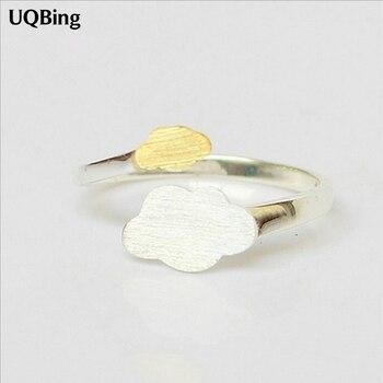 Fres envío 2019 nuevo anillo de nubes de oro abierto de 925 anillos de plata esterlina puro para chica mujer joyería de regalo