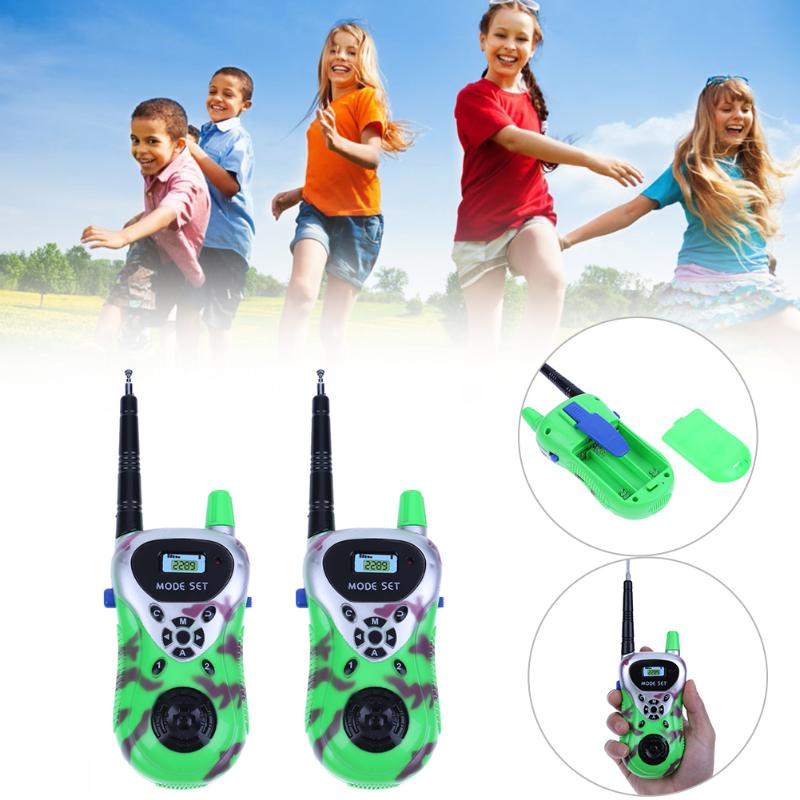 2pcs/Set Kids Intercom Electronic Walkie Talkie Toy Plastic Mini Wireless Handheld Interphone Toys Children Interactive Toys