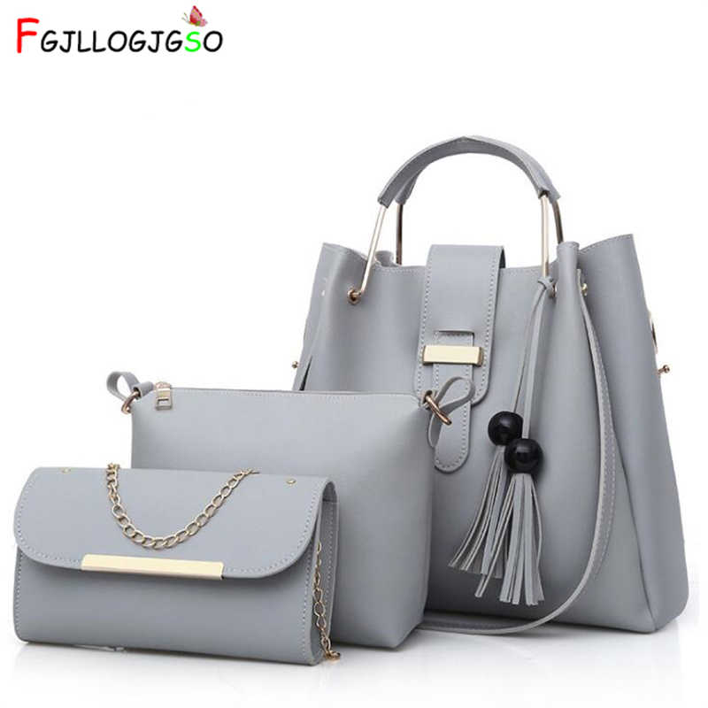 Бренд <b>FGJLLOGJGSO</b> 3 Комплекты сумок Женская композитная ...