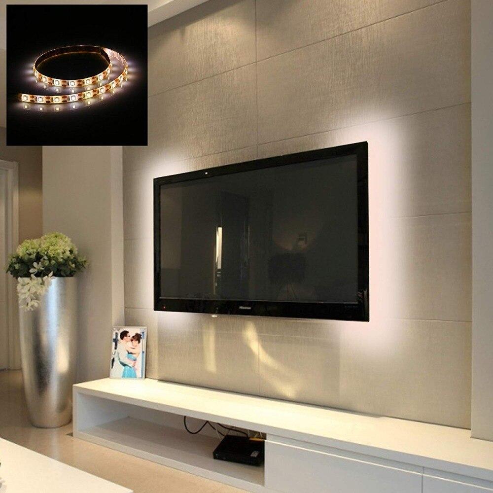 HTB16bY0MMHqK1RjSZFgq6y7JXXaF WELPUR battery 5V USB LED Strip 2835 DC LED Light Flexible 50CM 1M 2M 3M 5M white warm For TV Background Lighting Night light