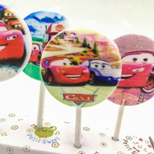 5pcs/lot Lightning Mcqueen Party Supplies Kids Birthday Candles Evening Decorations Wedding