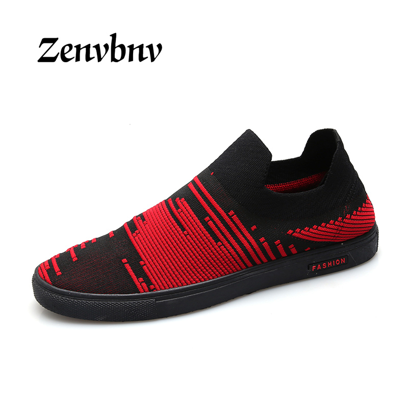 ZENVBNV Summer Mesh Men Shoes Slip On Non-Leather Casual Shoes Slip-on Men Leisure Shoes Breathable Flats comfortable sneakers 2017 new men loafers summer fashion men casual leather d shoes comfortable men flats non slip breathable shoes