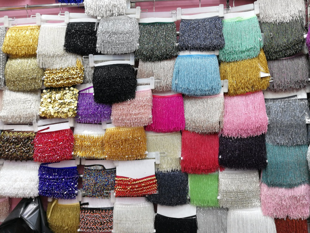 5.5 Yards 12 15cm Wide Lace Fringe Trim Tassel Fringe Trimming For DIY Latin Dress Stage Clothes Accessories Lace Ribbon - 3