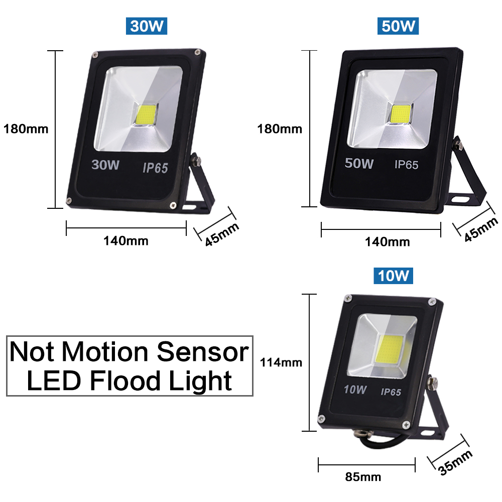 Image 3 - Motion Sensor LED Flood Light 220V 50W 30W 10W Waterproof IP65 Reflector Floodlight Lamp foco Led Exterior Spot Outdoor Light-in Floodlights from Lights & Lighting