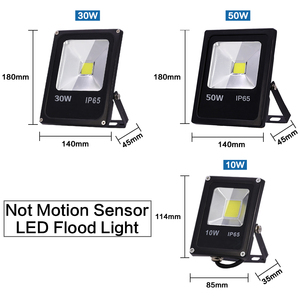 Image 3 - Motion Sensor LED Flood Light 220V 50W 30W 10W Waterproof IP65 Reflector Floodlight Lamp foco Led Exterior Spot Outdoor Light