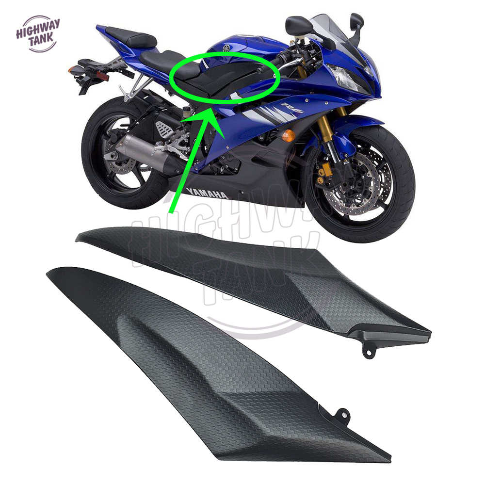 Motoparty R6 Gas Tank Side Cover Trim Insert Panel Fairing Cowl For Yamaha YZF-R6 2006 2007 YZF R6 Tank Side Fairing Cover Trim Cowl