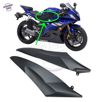 Black Motorcycle Side Fairing Panel Gas Tank Cover case for Yamaha YZF R6 2006 2007