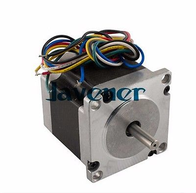 HSTM57 Stepping Motor DC Two-Phase Angle 1.8/1A/8.6V/6 Wires/Single Shaft jhstm57 stepping motor dc 2 phase angle 1 8 3 2v 4 wires single shaft ratio 10