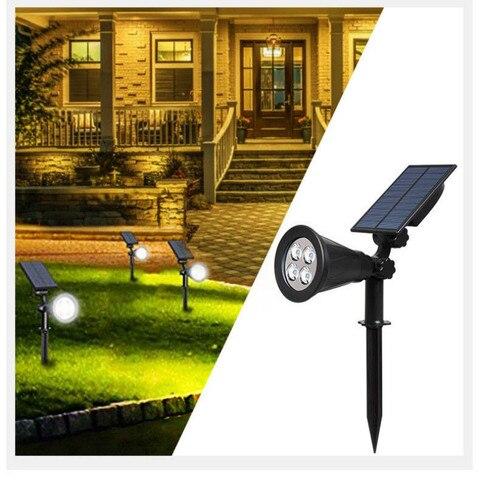 holofotes energia solar gramado luz de inundacao do jardim ao ar livre plug in de