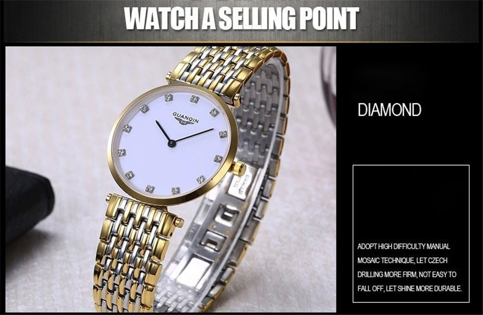 GUANQIN Women Watches 2017 Luxury Top Brand Watch Women Casual Fashion Gold Silver Steel Quartz Girl Watches relogio feminino (9)