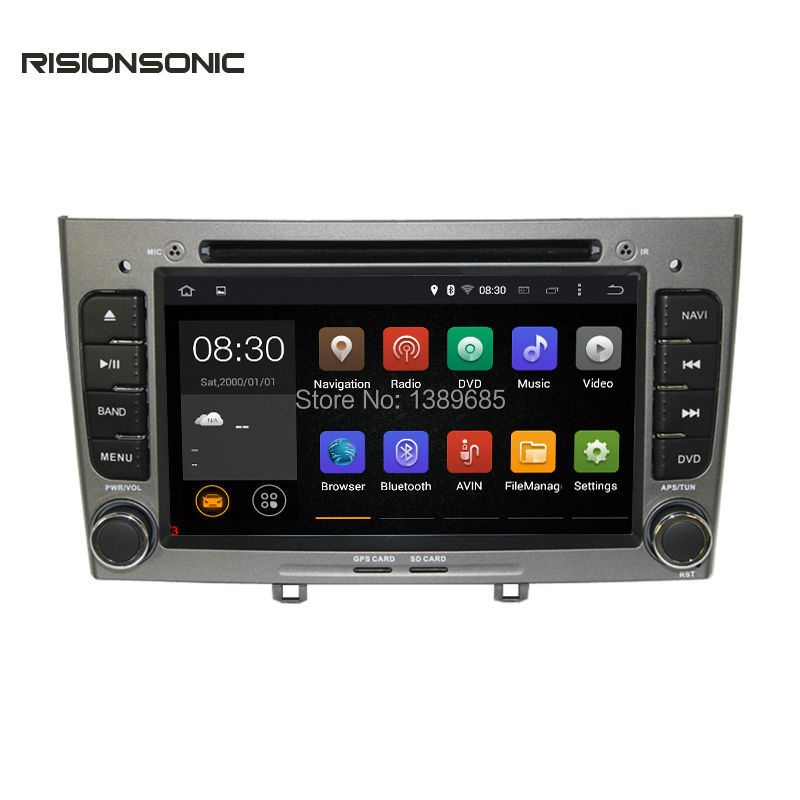2din android 6 0 car dvd gps navigation player for peugeot 308 308sw 408 quad core 1 6ghz car. Black Bedroom Furniture Sets. Home Design Ideas