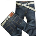 Hot sale! Men jeans New Fashion Trousers Straight slim mid waist popular men's Wash jeans Plus size 29-42 1908