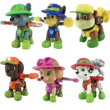 6/pcs paw patrol dog toy set childrens toys marshall skye animated character action model best birthday gift for children