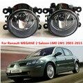 Для Renault MEGANE 2 Седан LM0 LM1 2003-2015 стайлинга Автомобилей Противотуманные Фары галогенные лампы 1 компл.